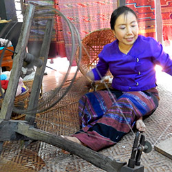 <p>A woman demonstrates a traditional weaving method in Thailand's Nan province. // © 2015 Shane Nelson</p><p>Feature image (above): Thailand's Nan...