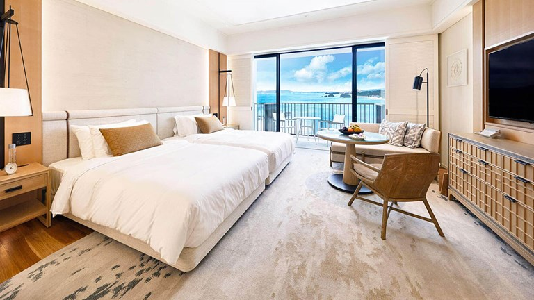 Every Okinawa Halekulani guestroom provides ocean views.