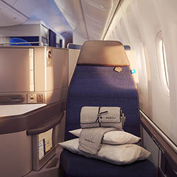 <p>Clients who fly to Hong Kong from San Francisco can enjoy Saks Fifth Avenue bedding onboard. // © 2017 United Airlines</p><p>Feature image (above):...
