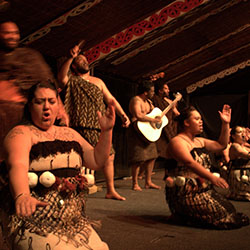 "<p>Maori people performing in the Tamaki Maori Village // © 2017 Creative Commons user <a href=""https://www.flickr.com/photos/ravigogna/5673516151/""..."