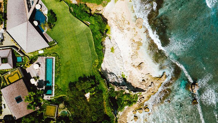 Uluwatu Surf Villas consists of 16 private villas spread over four acres.