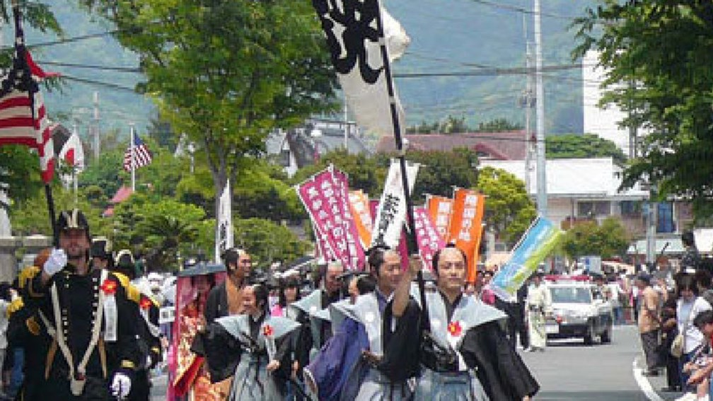 Every May, locals and visitors dress the part for the annual Shimoda Black Ship Festival // (c) Shimoda City Tourist Association F
