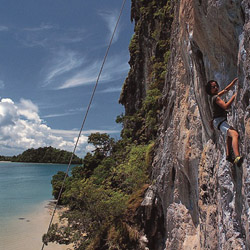 <p>Soft adventure options in Thailand include rock climbing in the coastal town of Krabi. // © 2014 Red Lantern Journeys</p><p>Feature image (above):...