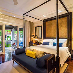 <p>Chiang Mai's 137 Pillars House features 30 guestrooms and begins at a rate of approximately $375 per night. // © 2016 137 Pillars...