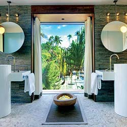 <p>A contemporary bathroom at The Brando // © 2015 Tim-McKenna.com</p><p>Feature image (above): After five years of construction, The Brando opened...