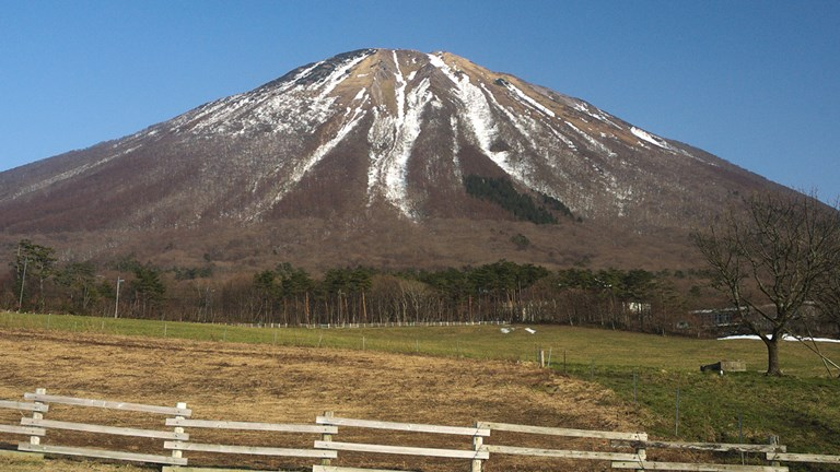 Mount Daisen is the highest volcanic mountain in the region.