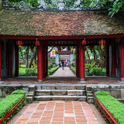 <p>Guests on Vacation By Rail's new Vietnam project might visit Temple of Literature in Hanoi. // © 2015 Vacations By Rail</p><p>Feature image...