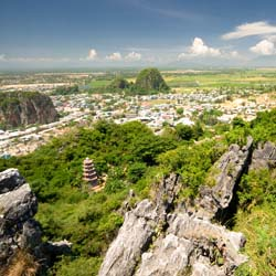 Marble Mountains, a group of five limestone and marble outcroppings high above China Beach and just south of Danang // © 2013 Thinkstock