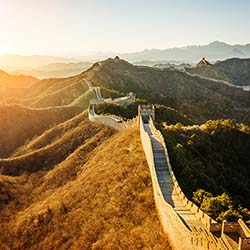 Agents will tour the Great Wall of China, which stretches across the mountains of northern China. // © 2017 iStock