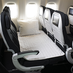 <p>The Boeing 777s used on Auckland-Houston flights will feature 18 rows of Skycouch products in the economy cabin. // © 2015 Air New...