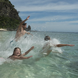 In certain locations in Fiji, clients can feel like they're on their very own island. // © 2014 Tourism Fiji