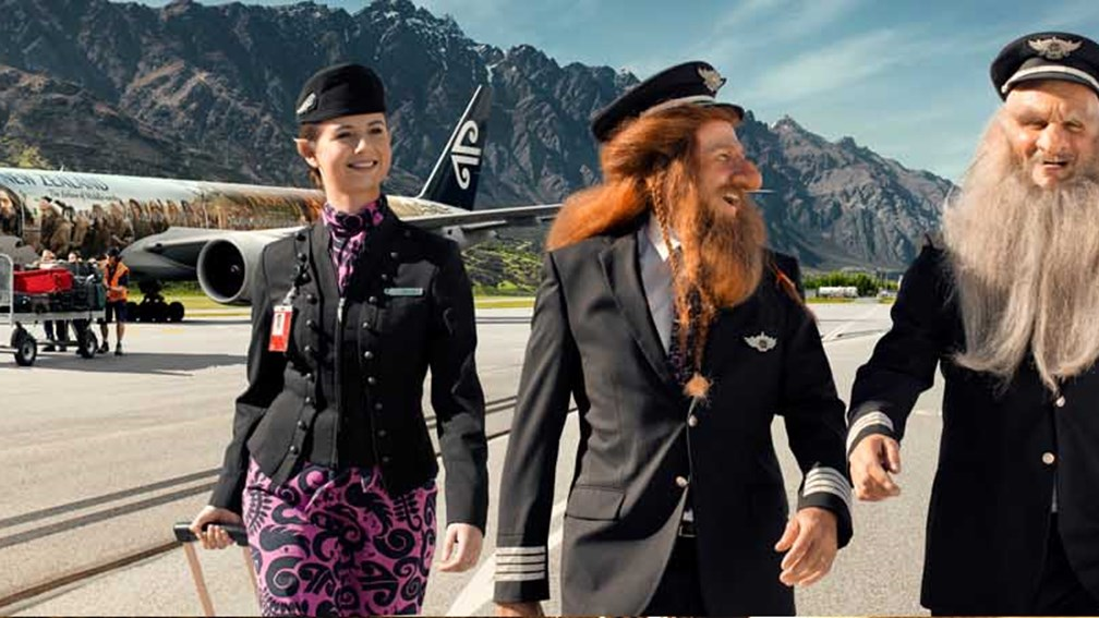 Air New Zealand's Hobbit-themed planes are part of a marketing push to get more U.S. visitors to choose New Zealand for their next vacation. // © 2013 Air New Zealand F