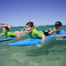 Let's Go Surfing offers commissionable surfing lessons at Bondi Beach as well as day-long programs that offer a glimpse of local culture. // © 2014...