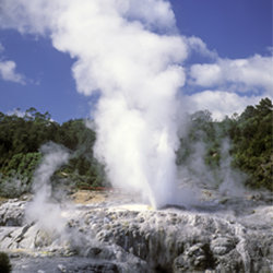 With eruptions as often as 15 times per day, Pohutu Geyser is the largest geyser in New Zealand. // © 2014 John Carnemolla/Thinkstock