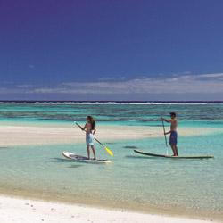 All-inclusive packages at The Brando include the use of outdoor equipment, from paddleboards to snorkel gear. // © 2014 The Brando