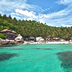 Charm Churee Villa is a resort located on Koh Tao's Jansom Bay. // © 2013 Charm Churee Villa; Koh Tao fish // © 2013 Thinkstock