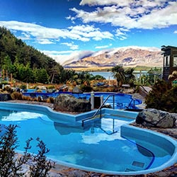 <p>The property has five hot springs pools that range in temperature from about 89 to 102 degrees Fahrenheit. // © 2016 Tekapo Springs</p><p>Feature...