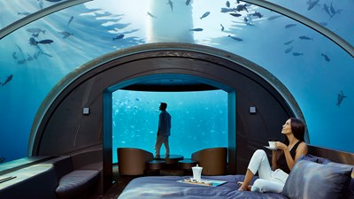 What It's Like to Stay in Conrad Maldives Rangali Island's Underwater Villa