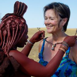<p>Fly-in safari camps offer opportunities to meet local tribespeople. // © 2014 Wilderness Safaris / Dana Allen</p><p>Feature image (above): Guests...