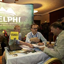 <p>Delphi Adventure Resort was one of the 700-plus suppliers, buyers and destinations represented at ATWS 2014. // © 2014 ATTA / Lukasz...