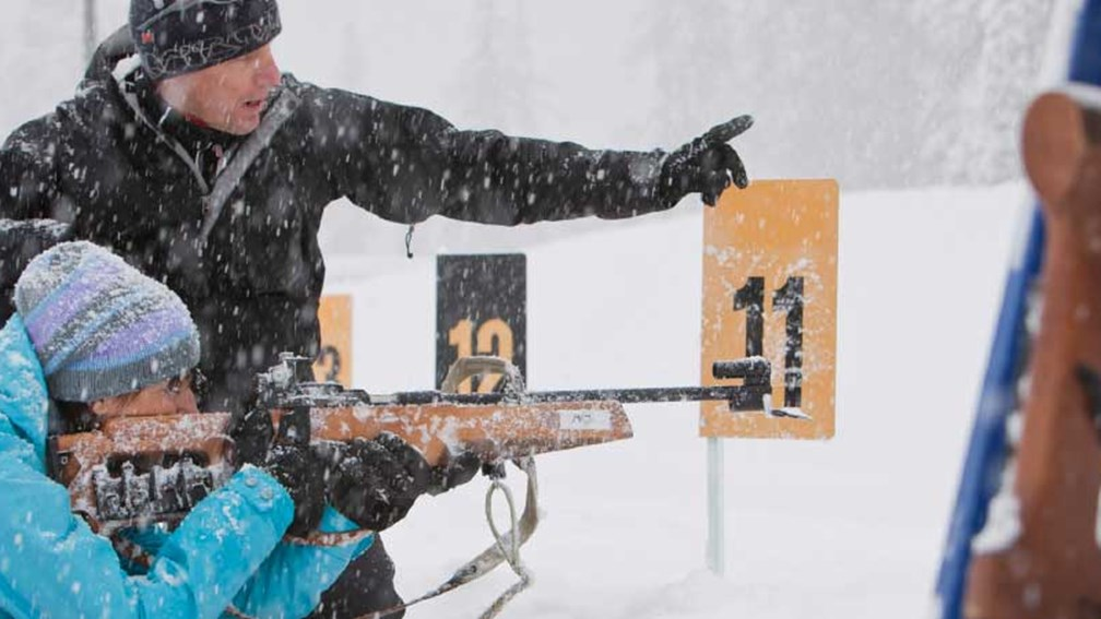 Learn rifle marksmanship and Nordic skiing with Discover Biathlon. // © 2015 Whistler Sport Legacies/Noel Hendrickson 3
