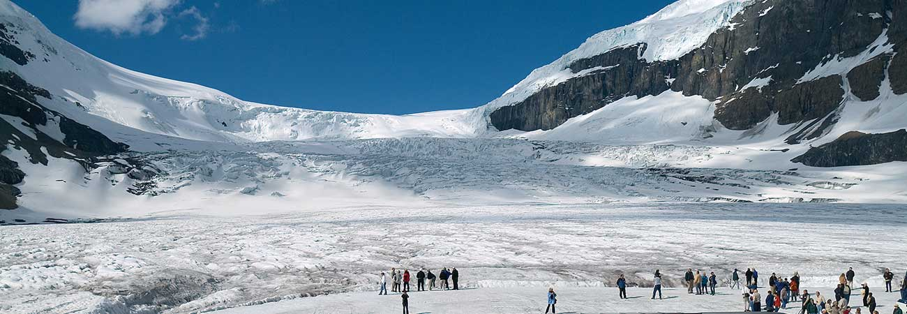 Walking on a Glacier at Columbia Icefield