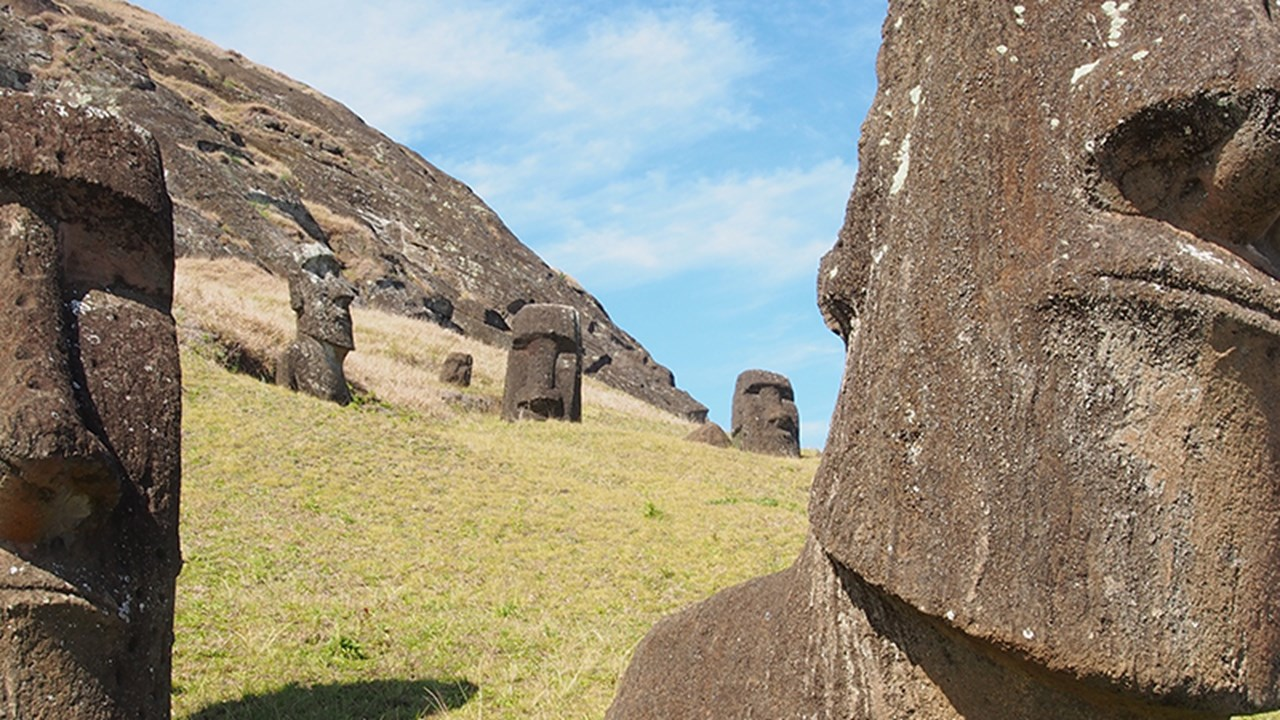 Easter Island's moai were carved between 1400 and 1650 A.D. // © 2015 iStock 3