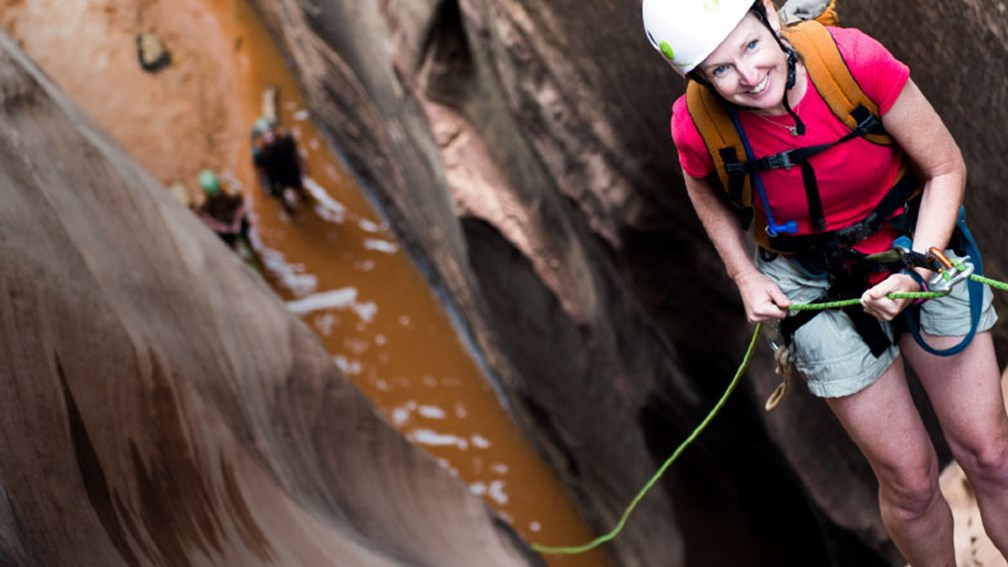 Visitors can rappel down Zion's rugged canyon walls with Zion Adventure Company. // © 2015 Zion Adventure Company 2