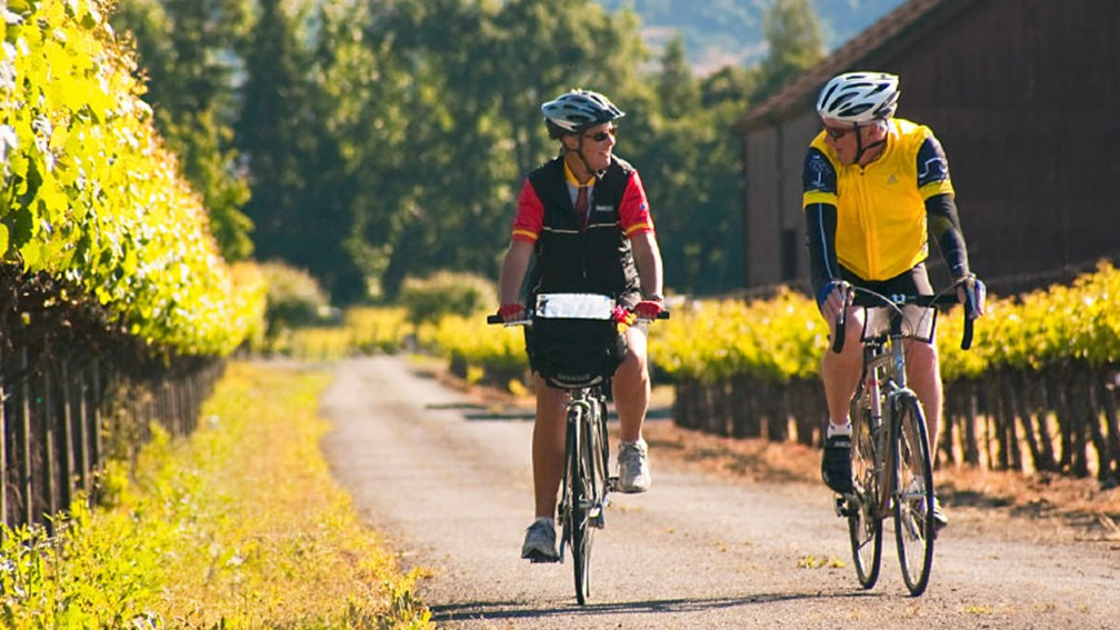 Clients ride at their own pace and can stop to sample wine. // © 2016 Backroads/David Epperson 2