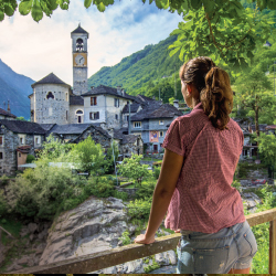 Drivers on the new Grand Tour of Switzerland may visit the village of Lavertezzo in the Verzasca Valley. // © 2015 Switzerland Tourism
