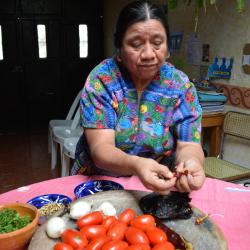 A hands-on cooking class in Guatemala's San Antonio Aguas Calientes // © 2015 Melissa Karlin