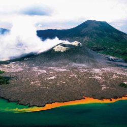 <p>Tavurvur is an active volcano in Papua New Guinea. // © 2015 PNG Tourism</p><p>Feature image (above): Members of the Rabaul Tribe dance during a...