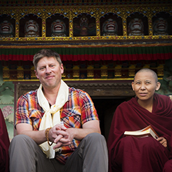 Shannon Stowell (left) on a recent trip to Nepal // © 2015 Mindy Poder
