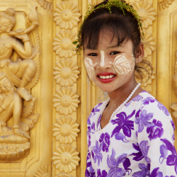 <p>Some women in Myanmar use a paste called thanaka. // © 2015 iStock</p><p>Feature image (above): Myanmar has unique rules when it comes to driving....