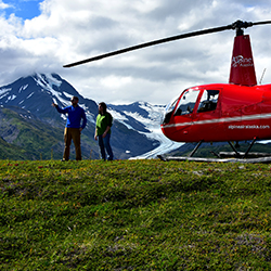 <p>Tick a helicopter ride in Alaska off your bucket list. // © 2016 Chris Batin</p><p>Feature image (above): Taking in the scenery on a helicopter...
