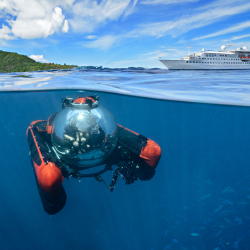 <p>Be a bubble boy in the Seychelles. // © 2017 Crystal Cruises</p><p>Feature image (above): Seabourn Cruise Line passengers can kayak in the...