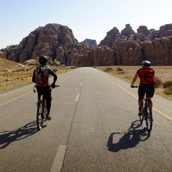 <p>Local operator Experience Jordan offers bike tours that include Petra. // © 2017 Will McGough</p><p>Feature image (above): The ancient city of...