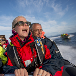 <p>An exhilarating speedboat ride on the way to Lofoten // © 2017 Hurtigruten</p><p>Feature image (above): Passengers take an inflatable boat to visit...