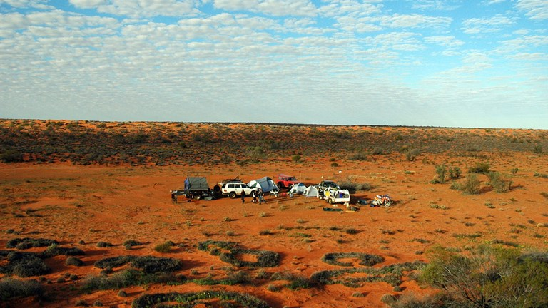 In Australia's Simpson Desert, only camping is available.