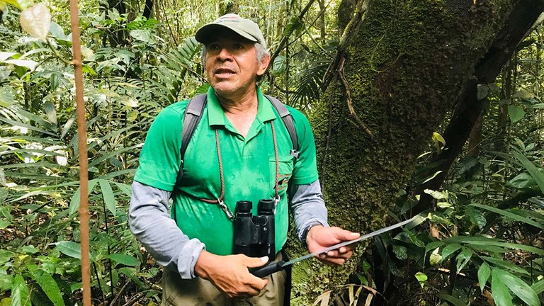 Souza has led tours of the rainforest for many years.
