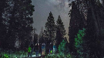 What It's Like to Take a Night Hike Near Yosemite National Park