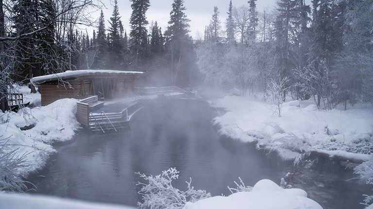 Liard Hot Springs' natural thermal pools