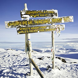 <p>The top of Mount Kilimanjaro // © 2017 iStock</p><p>Feature image (above): Participants expressed interest in visiting the Maldives, which is...