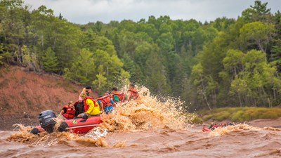 Tidal Bore Rafting in Nova Scotia's Bay of Fundy