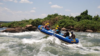 Whitewater Rafting on the White Nile River in Uganda