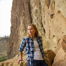 "<p>Reese Witherspoon plays Cheryl Strayed in the film adaptation of ""Wild,"" seen here at Smith Rock State Park in Oregon. // © 2014 Fox Searchlight..."