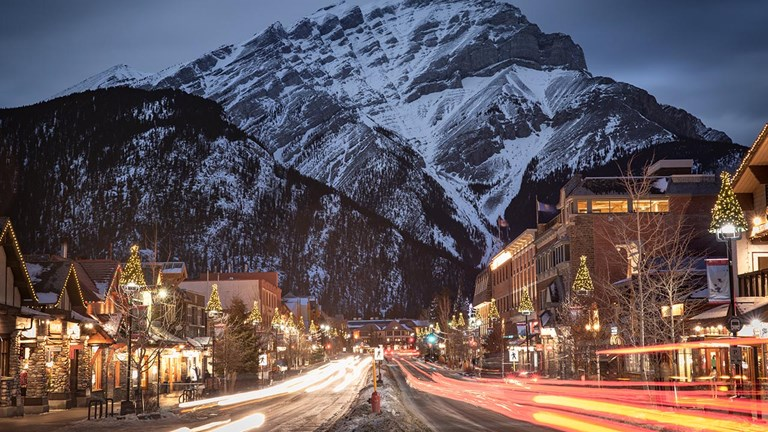 Banff is a resort town in Alberta.