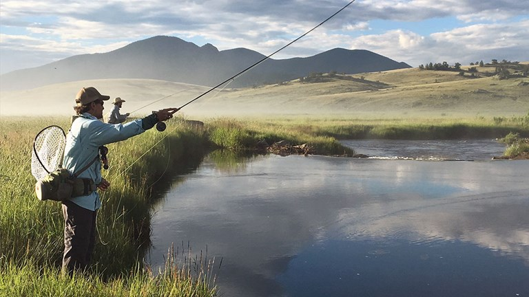 Fly fishing rentals are included with a stay at The Broadmoor Fly Fishing Camp.