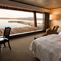 <p>All bedrooms at The Singular Patagonia have views of the lake. // © 2015 The Singular Hotels</p><p>Feature image (above): Hotel guests can go...