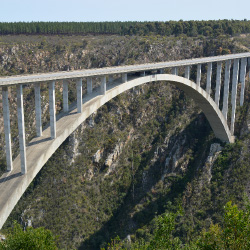 The 700-foot-high Bloukrans Bridge Bungy is located along the scenic Garden Route. // © 2014 South Africa Tourism
